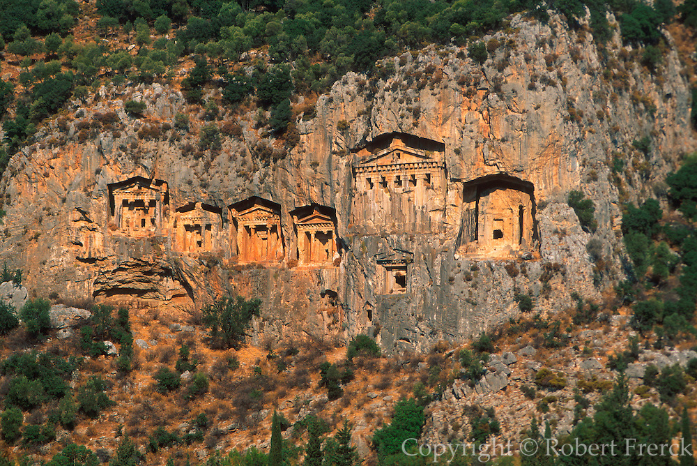 TURKEY, HELLENISTIC Dalyan; Lycian rock cut tombs