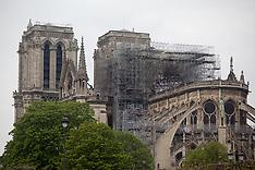 Aftermath Of Notre-Dame Cathedral Blaze - Paris - 16 April 2019