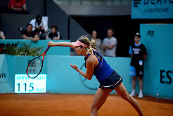 May 6, 2019 - Madrid, Spain - Danielle Collins (USA) in her match against Ashleigh Barty (AUS) during day three of the Mutua Madrid Open at La Caja Magica in Madrid on 6th May, 2019. (Credit Image: © Juan Carlos Lucas/NurPhoto via ZUMA Press)