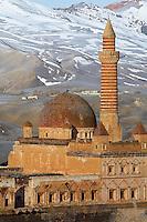 Turquie. Anatolie de l'Est. Dogubayazit. Palais d'Ishak Pacha (Ishakpasa Sarayi). Ishak Pasha. // Turkey. East Anatolia Province. Dogubayazit. Ishak Pacha palace (Ishak Pasa).