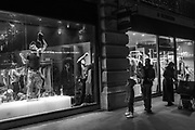 Renovating Pepe Jeans, Regent St. London. 8.30 p.m. 6 April 2017