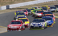 SONOMA, CA - June 20, 2010:  The NASCAR Sprint Cup teams take to the track for the Toyota/Save Mart 350 race at Infineon Raceway in Sonoma, CA.