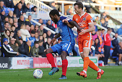 Anthony Grant of Peterborough United in action with Shaun Whalley of Shrewsbury Town - Mandatory by-line: Joe Dent/JMP - 28/10/2017 - FOOTBALL - ABAX Stadium - Peterborough, England - Peterborough United v Shrewsbury Town - Sky Bet League One
