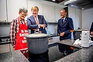 AMSTERDAM - King Willem-Alexander during the opening of the North Cape, a new multifunctional housing facility for the Salvation Army. ROBIN UTRECHT <br /> AMSTERDAM - Koning Willem-Alexander tijdens de opening van de Noordkaap, een nieuwe multifunctionele woonvoorziening van het Leger des Heils.