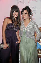 Left to right, SARAH OWEN and LILY ALLEN at a party to celebrate the launch of the Lucy in Disguise Ready to Wear collection exclusive to Harvey Nichols, held at The Fifth Floor Restaurant, Harvey Nichols, Knightsbridge, London on 25th May 2011.