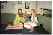 Rebecca Evans and Laura Bailey.Miramax post Bafta's party. Noble Rot. 9 April 2000. © Copyright Photograph by Dafydd Jones 66 Stockwell Park Rd. London SW9 0DA Tel 020 7733 0108 www.dafjones.com