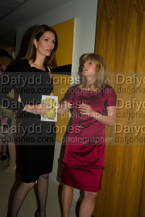 PLUM SYKES AND RACHEL JOHNSON , Book launch for Shire Hell by Rachel Johnson. the Strand. London. 15 May 2008.  *** Local Caption *** -DO NOT ARCHIVE-© Copyright Photograph by Dafydd Jones. 248 Clapham Rd. London SW9 0PZ. Tel 0207 820 0771. www.dafjones.com.