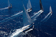 Rebecca, Leopard 3, Wild Horses racing in the St. Barth Bucket regatta.