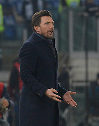 March 2, 2019 - Rome, Lazio, Italy - Eusebio Di Francesco of AS Roma during the Italian Serie A football match between S.S. Lazio and A.S Roma at the Olympic Stadium in Rome, on march 02, 2019. (Credit Image: © Silvia Lore/NurPhoto via ZUMA Press)