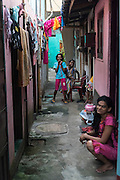 In the alleyways off Jampettah Street, near St. Anthony;s shrine,  Kochchikade. Colombo 13. Good Friday 2015