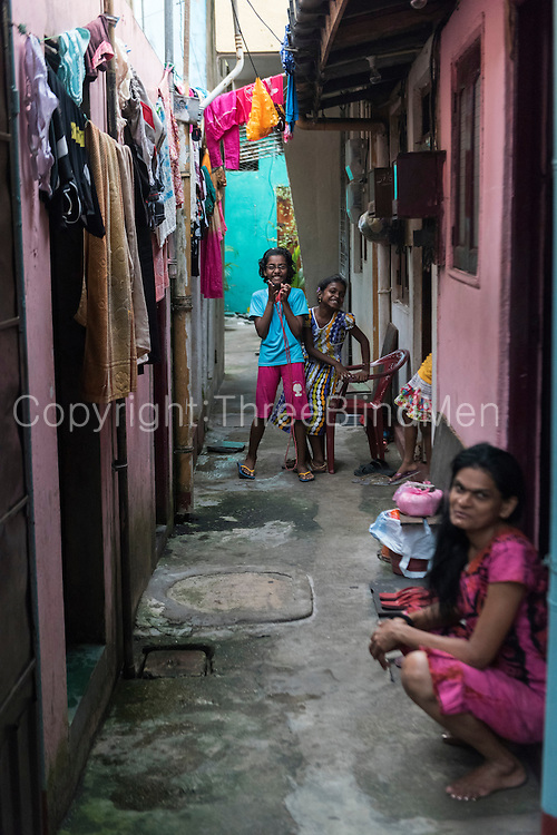 In the alleyways off Jampettah Street, near St. Anthony;s shrine,  Kochchikade. Colombo 13. Good Friday 2015
