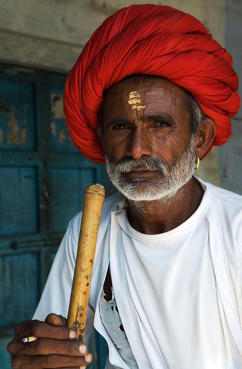 Portrait of Rajput, near Udaipur, Rajasthan