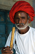 Portrait of Rajput, near Udaipur, Rajasthan