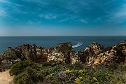 Ponta da Piedade, Algarve, Portugal. The Huffington Post says that Ponta da Piedade, in Lagos, is one of the most beautiful beaches in the world.