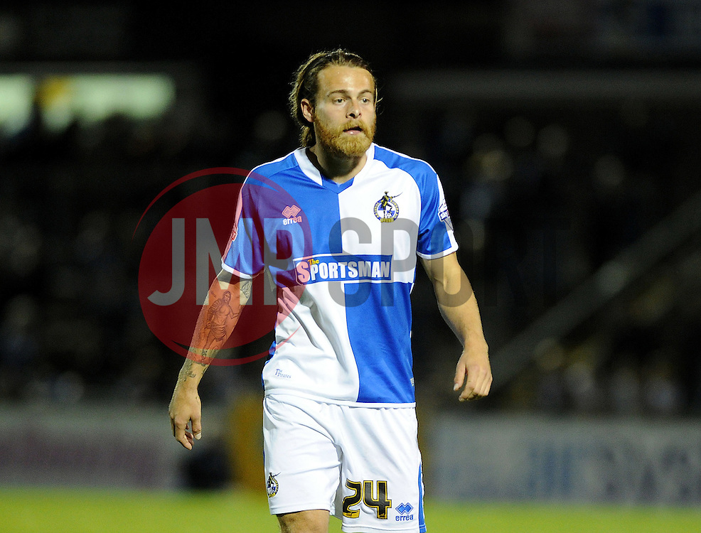 Stuart Sinclair of Bristol Rovers - Mandatory byline: Neil Brookman/JMP - 07966 386802 - 06/10/2015 - FOOTBALL - Memorial Stadium - Bristol, England - Bristol Rovers v Wycombe Wanderers - JPT Trophy