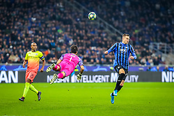 November 6, 2019, Milano, Italy: uscita claudio bravo (manchester city) on josip ilicic (atalanta bc)during Tournament round, group C, Atalanta vs Manchester City, Soccer Champions League Men Championship in Milano, Italy, November 06 2019 - LPS/Fabrizio Carabelli (Credit Image: © Fabrizio Carabelli/LPS via ZUMA Wire)