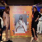 NLD/Rotterdam/20120516 - Verjaardag en boekpresentatie Magali Gorre, onthulling cover boek door Bouchra van Persie