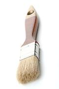 Paintbrush on white background - close-up