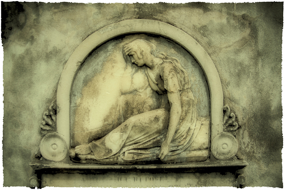 A crypt in Saint Louis Cemetery in New Orleans, LA
