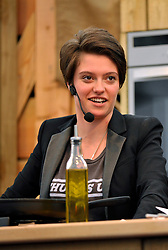 © Licensed to London News Pictures. 10/05/2014; Bristol, UK.  Jack Monroe does a live demonstration of cooking at the Bristol Food Connections festival in the Harbourside area of the city.<br /> Photo credit: Simon Chapman/LNP