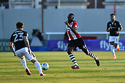 Hiram Boateng (44) of Exeter City on the attack during the EFL Sky Bet League 2 match between Exeter City and Lincoln City at St James' Park, Exeter, England on 17 May 2018. Picture by Graham Hunt.