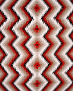 "0108-1038 ~ Copyright: George H. H. Huey ~ Detail of Navajo Indian rug. Eyedazzler style. 30"" x 39"". . Hubbell Trading Post National Historic Site, Arizona."