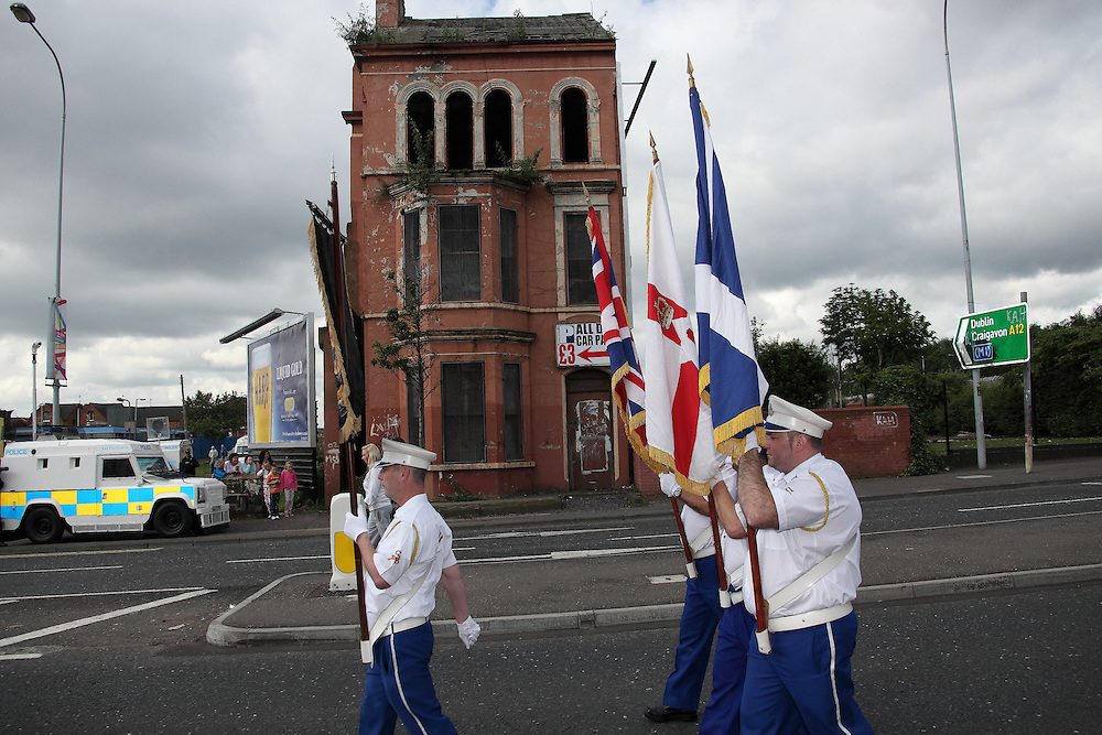 The Orange Order Marches take place in Belfast to remember the Battle of the Boyne in 1690 and to celebrate Orange Culture. 12/7/2012