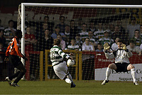 Football - Northwich Victoria v Barnet - Nationwide Conference - Victoria Stadium - 04/05 , 2/4/05<br /> Paul Brayson scores Northwich's second goal <br /> Photo:  Paul Dowker , Digitalsport<br /> Norway only