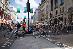 \elech of CANYON//SRAM Racing corners at the top of Regent Street during Stage 5 of the OVO Energy Women's Tour - a 62 km road race, starting and finishing in London on June 11, 2017, in London, United Kingdom. (Photo by Balint Hamvas/Velofocus.com)