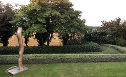 Langham Fine Arts, Langham Suffolk. John Langberg, Danish fashion designer, has designed his own garden, September 13, 2000..Photo by Andrew Parsons/i-Images.
