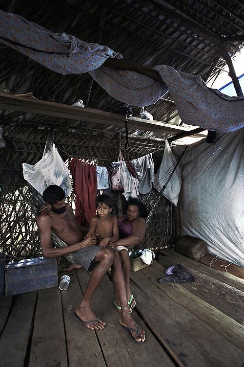 Brazil, Oiapoque, frontiere franco-bresilienne, Amapa.<br /> <br /> Communidade Vitoria do Oiapoque, bairro invasao, (quartier de l'invasion).