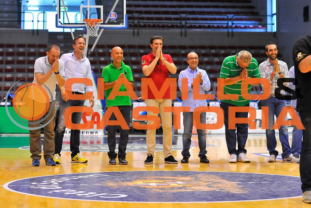 DESCRIZIONE : Campionato 2013/14 Dinamo Banco di Sardegna Sassari Presentazione e Saluti Finali<br /> GIOCATORE : Staff Dinamo<br /> CATEGORIA : Ritratto<br /> SQUADRA : Dinamo Banco di Sardegna Sassari<br /> EVENTO : Dinamo Banco di Sardegna Sassari Presentazione e Saluti Finali<br /> GARA : Dinamo Banco di Sardegna Sassari Presentazione e Saluti Finali<br /> DATA : 11/06/2014<br /> SPORT : Pallacanestro <br /> AUTORE : Agenzia Ciamillo-Castoria / Luigi Canu<br /> Galleria : LegaBasket Serie A Beko Playoff 2013/2014<br /> Fotonotizia : Campionato 2013/14 Dinamo Banco di Sardegna Sassari Presentazione e Saluti Finali<br /> Predefinita :