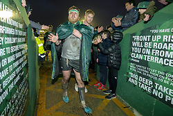 December 8, 2018 - Galway, Ireland - Finlay Bealham of Connacht thanks his fans during the European Rugby Challenge Cup match between Connacht Rugby and Perpignan at the Sportsground in Galway, Ireland on December 8, 2018  (Credit Image: © Andrew Surma/NurPhoto via ZUMA Press)