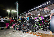 "Girls final during stage 4 of the first Snow Epic, the ""Eliminator"" course on the Klostermatte ski slopes near Engelberg, in the heart of the Swiss Alps, Switzerland on the 16th January 2015<br /> <br /> Photo by:  Marc Gasch / Snow Epic / SPORTZPICS"