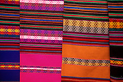 PERU, HIGHLANDS, MARKETS Pisac; famous craft market; textiles