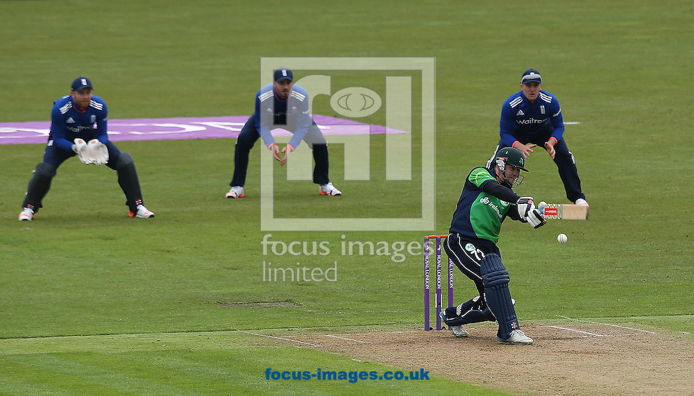 Niall O'Brien of Ireland during the One Day International match at the Village, Malahide<br /> Picture by Lorraine O'Sullivan/Focus Images Ltd +353 872341584<br /> 08/05/2015