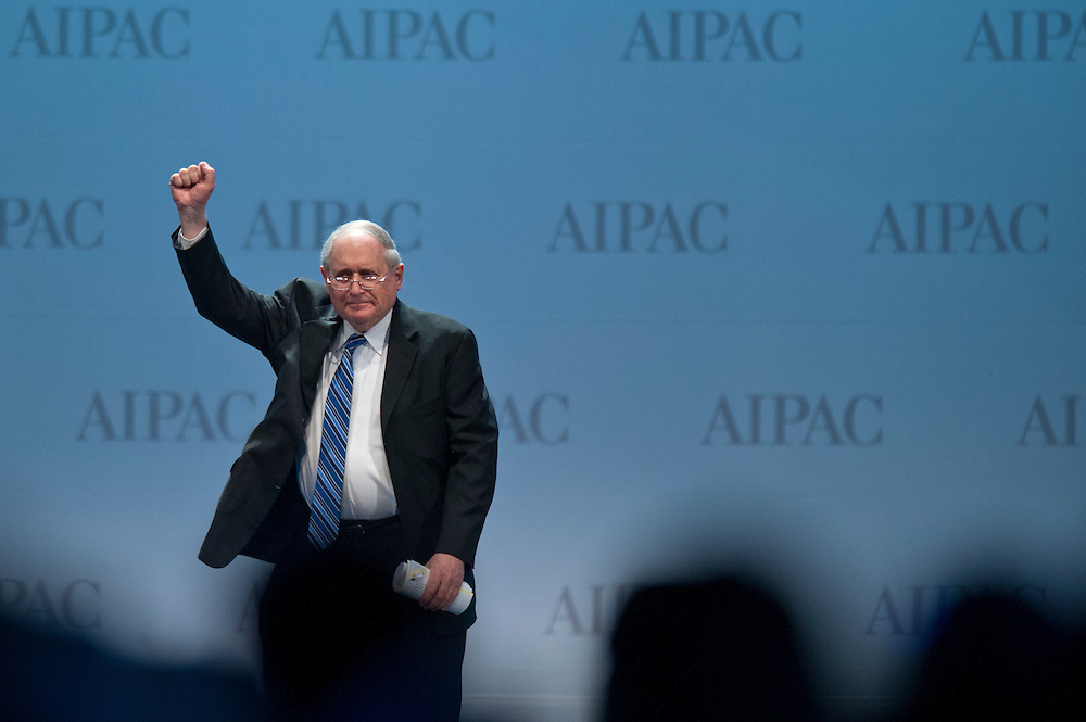 Senator Carl Levin (D-MI) speaks at the American Israel Public Affairs Conference (AIPAC) in Washington, DC, USA on 6 March, 2012. More than 13,000 delegates are expected to attend the convention sponsored by largest pro-Israel lobby in the world and one of the strongest in the United States.