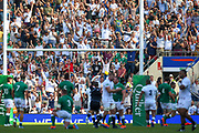 England fans celebrate an England try in the second half during the England vs Ireland warm up fixture at Twickenham, Richmond, United Kingdom on 24 August 2019.