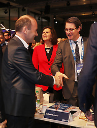 19.01.2019, Kleine Olympiahalle, Muenchen, GER, CSU Parteitag in München, im Bild Manfred Weber, Ilse Aigner und Andreas Scheuer // during the CSU party congress at the Kleine Olympiahalle in Muenchen, Germany on 2019/01/19. EXPA Pictures © 2019, PhotoCredit: EXPA/ SM<br /> <br /> *****ATTENTION - OUT of GER*****