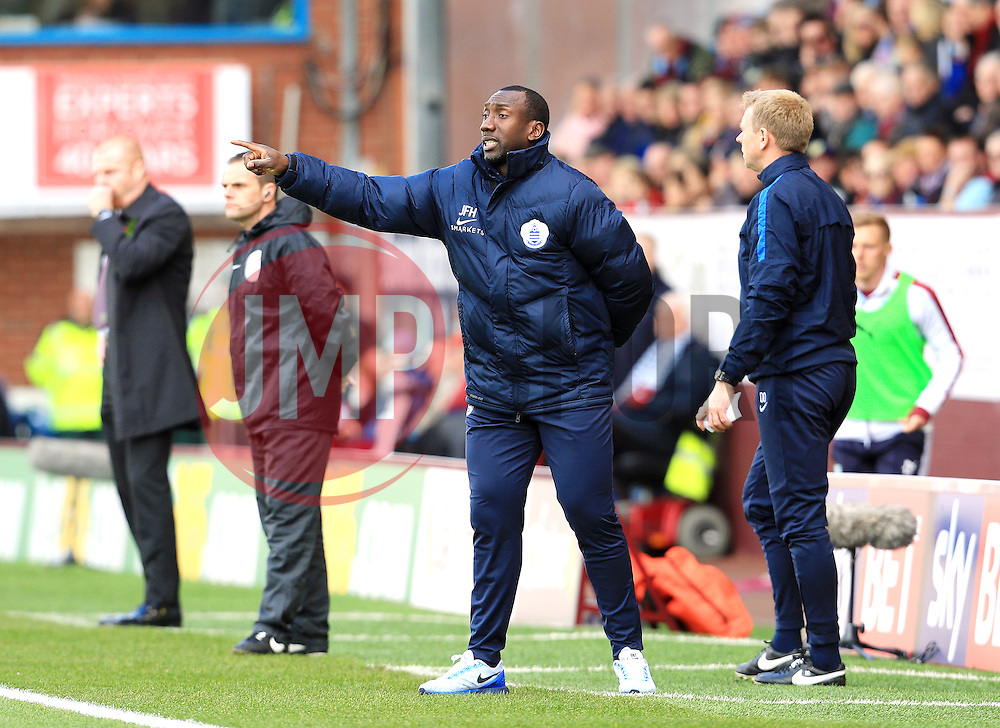 Queens Park Rangers manager Jimmy Floyd Hasselbaink shouts instructions  - Mandatory by-line: Matt McNulty/JMP - 02/05/2016 - FOOTBALL - Turf Moor - Burnley, England - Burnley v Queens Park Rangers - SkyBet Championship