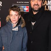 NLD/Amsterdam/20140210 - Filmpremiere Kankerlijers, Kees Boot en zoon