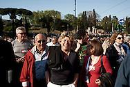 Roms 9 Aprile 2011.Manifestazione dei lavoratori precari per chiedere 'Diritti, welfare, maternità, pensione per tutti'..Susanna Camusso, segretario generale CGIL