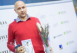Andrej Krasevec at Slovenian Tennis personality of the year 2014 annual awards presented by Slovene Tennis Association TZS , on December 6, 2014 in Millenium Centre, BTC, Ljubljana, Slovenia. Photo by Vid Ponikvar / Sportida