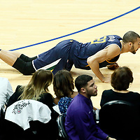 15 April 2017: Utah Jazz center Rudy Gobert (27) is seen injured during the Utah Jazz 97-95 victory over the Los Angeles Clippers, during game 1 of the first round of the Western Conference playoffs, at the Staples Center, Los Angeles, California, USA.