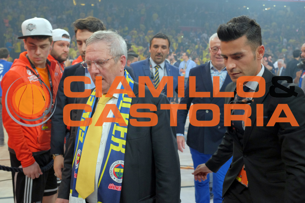 Aziz Yildirim Fenerbahce Istanbul Basket Presidente<br /> Fenerbahce Istanbul - Olympiakos Piraeus<br /> Euroleague Final Four 2017<br /> Finale 1 - 2 Posto<br /> Euroleague 2016/2017<br /> Istanbul, 21/05/2017<br /> Foto M.Ceretti / Ciamillo - Castoria