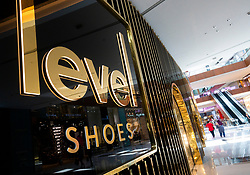 Level Shoes luxury shoe department store inside Dubai Mall, UAE, united Arab Emirates