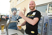 Shane Burke from Carrickmines Dublin pulls his own pint  at the Budweiser Ice Cold Summer BBQ, broadcast live on the Tony Fenton Show at The Galway Bay Hotel in Salthill. Photo:Andrew Downes.. .Both Duke Special and The Divine Comedy performed at the summer kick-off party and Today FM's Tony Fenton Show broadcast live from the hotel all afternoon...The 150 invited guests included Today FM listeners ad Budweiser Ice Cold Facebook fans from all over the country. Guests also won the chance to win a cool Grand in cash, meet Mr. Iceman and of course enjoy a pint of Budweiser Ice Cold, the coldest pint ever!..Enjoy Budweiser Ice Cold sensibly visit www.drinkaware.ie ..This event was strictly over 18's,..-ENDS-..FOR FURTHER INFORMATION PLEASE CONTACT:.Killian Burns / Aoiffe Madden..Killian.burns@ogilvy.com / aoiffe.madden@ogilvy.com.WHPR..Tel: 01 6690030.