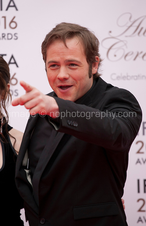 Actor Moe Dunford at the IFTA Film & Drama Awards (The Irish Film & Television Academy) at the Mansion House in Dublin, Ireland, Saturday 9th April 2016. Photographer: Doreen Kennedy