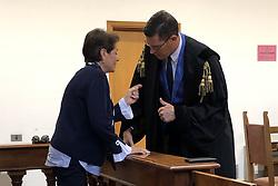 LUCIA PANIGALLI CON L'AVVOCATO GIACOMO FORLANI<br /> UDIENZA TENTATO OMICIDIO LUCIA PANIGALLI
