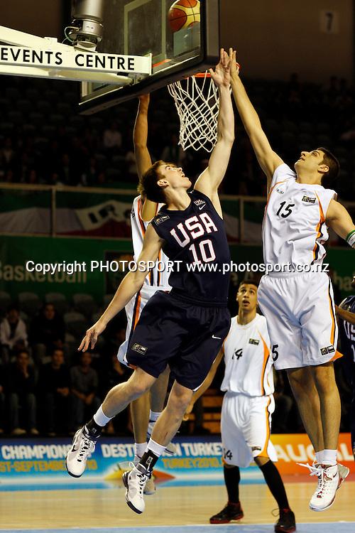 U19 Basketball World Championships, Iran v USA,North Shore Events Centre, Auckland. 2 July 2009. Photo: Andrew Cornaga/PHOTOSPORT